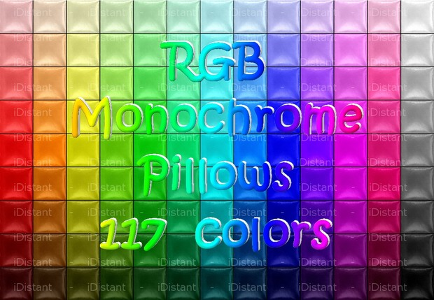 RGB Monochrome Pillows