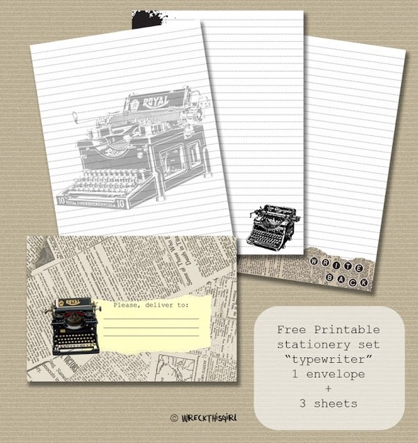 Typewriter Letter Set