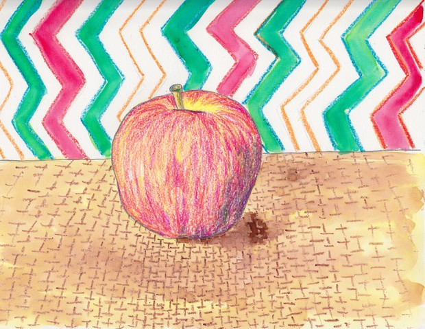 Apple Still Life Project for 4-8 year olds