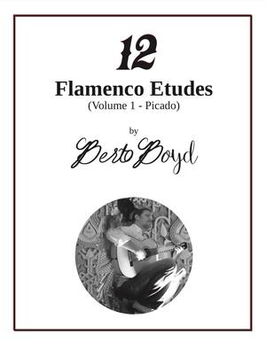 12 Flamenco Etudes (Volume 1 - Picado) by Berto Boyd