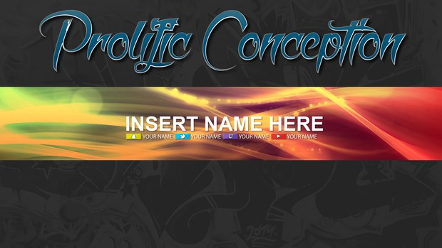 Colorful Abstract YouTube Banner Template