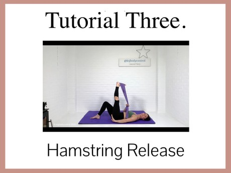 TUTORIAL 3 - Focus On Release: The Hamstrings ( 50 mins)