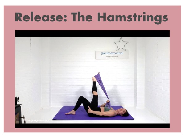 TUTORIAL 3 - Focus On Release: The Hamstrings ( 50 mins)