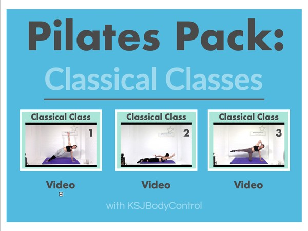 PILATES PACK: Classical Classes 1-3 (Total Running Time 186 Minutes)