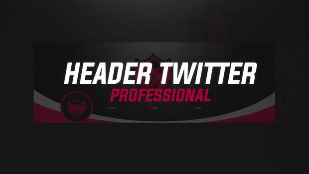 HEADER TWITTER ESPORTS PROFESSIONAL + LOGO   MASCOT LOGO   BY EM DZN