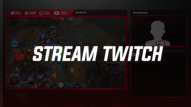 STREAM TWTICH OVERLAY PROFESSIONAL