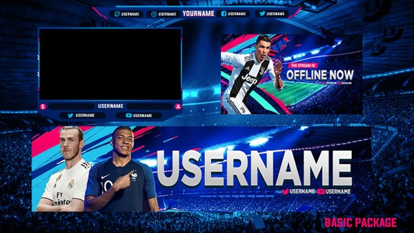 FIFA 19 TWITCH STREAM OVERLAY BASIC PACKAGE