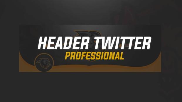 HEADER TWITTER ESPORTS PROFESSIONAL + LOGO | MASCOT LOGO | BY EM DZN