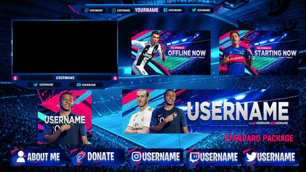 FIFA 19 TWITCH STREAM OVERLAY STANDARD PACKAGE