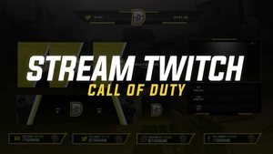 PREMIUM PACK: OVERLAY STREAM TWITCH PROFESSIONAL CALL OF DUTY 2018 | BY EM DZN