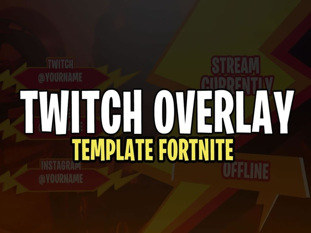 NEW TWITCH OVERLAY TEMPLATE FORTNITE