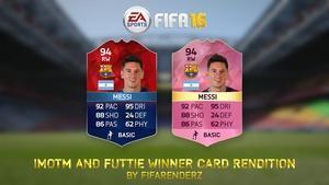 FIFA 16 - IMOTM & Futtie Winner Card rendition (Ultra HD)