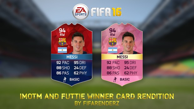 FIFA 16 - IMOTM & Futtie Winner Card rendition (Ultra HD)