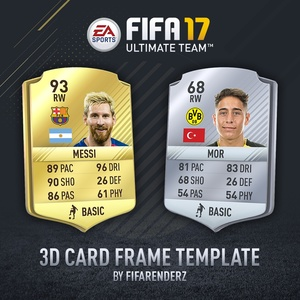 FIFA 17 - HD 3D Card frame template