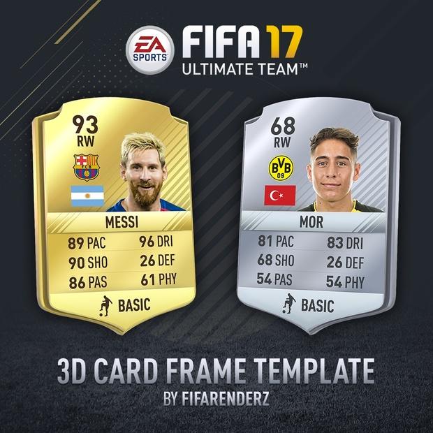 FIFA 17 - HD 3D Card frame template