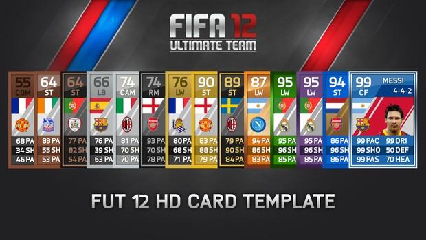 FUT 12 - HD CARD TEMPLATE