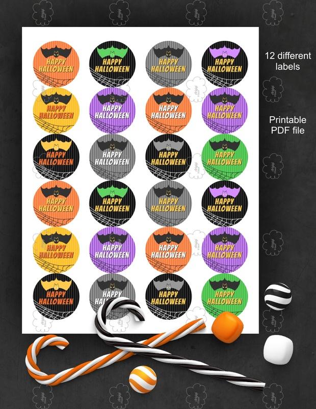 Freebie Happy Halloween Printable Stickers PDF file