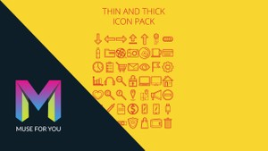 Muse For You - Thin and Thick Icon Pack - SVG Icon Set