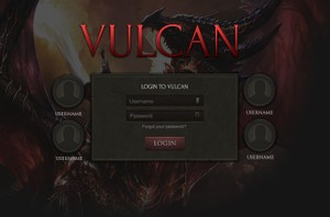 Vulcan Login Screen [PSD]