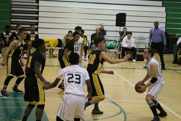 Naples Boys Varsity basketball team vs. Vicenza