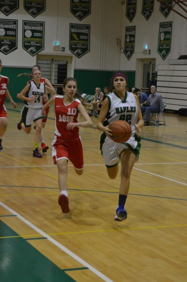 Naples Girls Basketball team vs AOSR