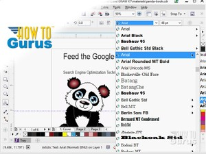 How to Add and Edit Text in CorelDRAW x7 x6
