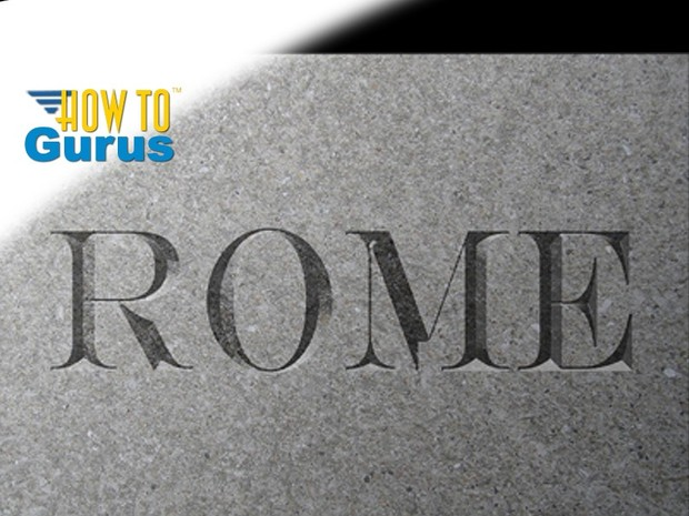 Photoshop Carved Text Effect, how to carve text into a surface, CS5 CS6 CC Tutorial