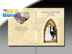 How to Design a Wedding DVD Cover in Photoshop Elements 14 13 12 11 Tutorial