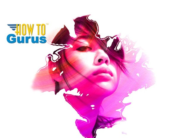 How to do a Photoshop Paint Splash Portrait Effect, photo in shape trick Tutorial CS5 CS6 CC