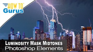 Photoshop Elements Midtone Luminosity Mask Adjustment Layer Photo Editing 2018 15 14 13 12 Tutorial