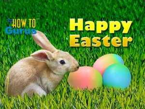 How To Easter Bunny and Eggs Card Photo Manipulation in Photoshop Elements 11 12 13 14 Tutorial