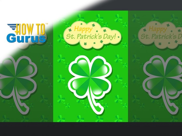 How to Create a Custom St Patrick's Day Card in Photoshop Elements 11 12 13 14 PSE Tutorial