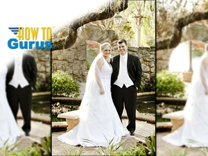How to Change a Bad Background in Wedding Photograpy with Photoshop Elements 11 12 13 14 Tutorial