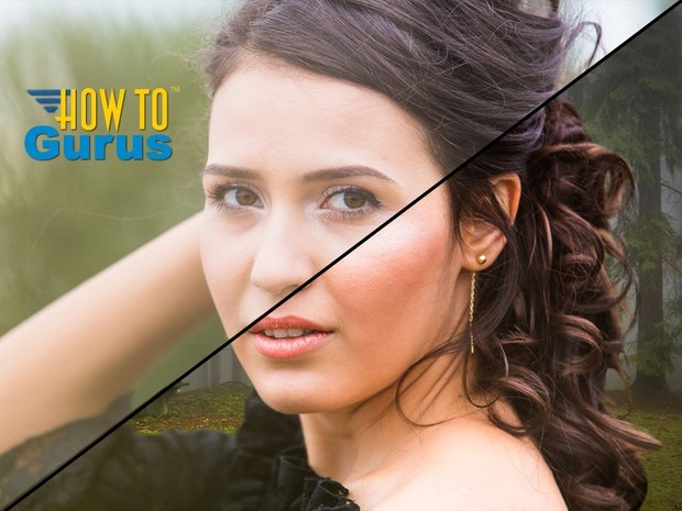 How to use Refine Edge to do Hair Masking in Photoshop CS4 CS3 to Replace Background - PS Tutorial