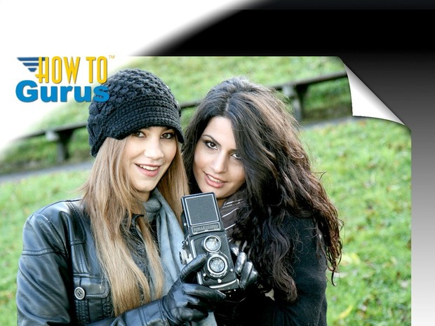 How to make a Curled Corner in Photoshop Elements 11 12 13 14 Tutorial