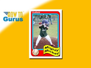 How to Make a Baseball Trading Card style mini-Poster in Photoshop Elements 14 13 12 11 Tutorial
