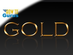 How to Create a Fast Metallic Gold Text Effect in Photoshop CS5 CS6 CC Tutorial