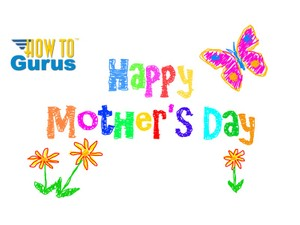 How To Make a DIY Scribble Style Mother's Day Card in Photoshop Elements 11 12 13 14 Tutorial