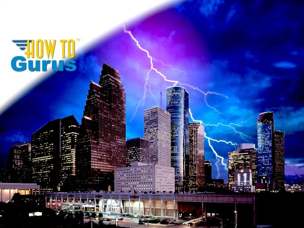 How to Make Realistic Lightning and Add to Sky in Photoshop Elements 11 12 13 14 Tutorial