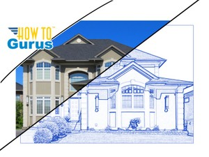 Photoshop Architecture Blue Line Effect Tutorial: How to do a Drawing Look in CC 2017 CS6 CS5
