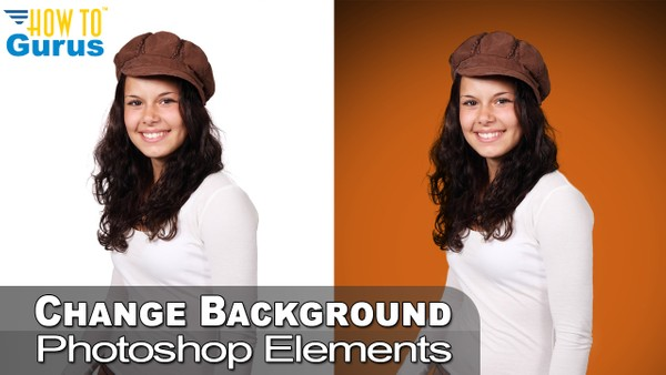 How To Change a White Background to Color Using Photoshop Elements 2018 15 14 13 Tutorial