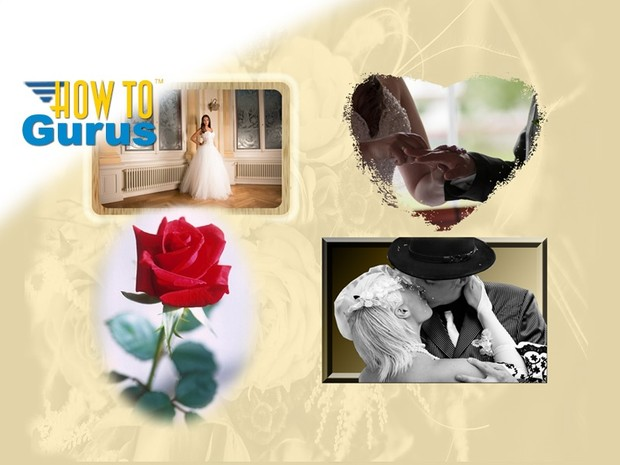 How to create 4 Wedding Album Photo Effects in Photoshop Elements 11 12 13 14 tutorial