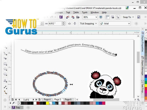 How to put Text on a Path in CorelDRAW x7 x6