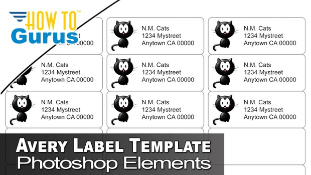 How To Use Free Avery Label Photoshop Templates In Pho