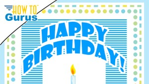 Photoshop Elements Dotted Dashed Line : Birthday Card 15 14 13 12 11 Tutorial
