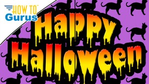 Photoshop Elements Drippy Text Effect : Happy Halloween Card 2018 15 14 13 12 11 Tutorial