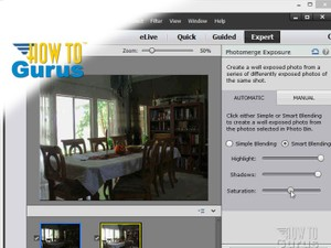 How to use Adobe Photoshop Elements 13 HDR images using Photomerge Exposure