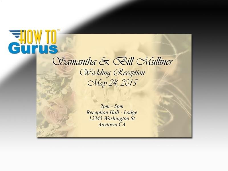 How To Design Wedding Invitation Cards In Photoshop Cs5 Cs6 Cc