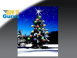 How to make a Christmas Card using Photoshop Elements 11 12 13 14 Tutorial