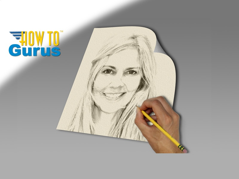 Line Art Effect Photoshop Tutorial : How do a pencil sketch effect from portrait in photo
